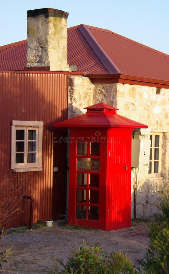 Old Australian Telephone Box royalty free stock photo