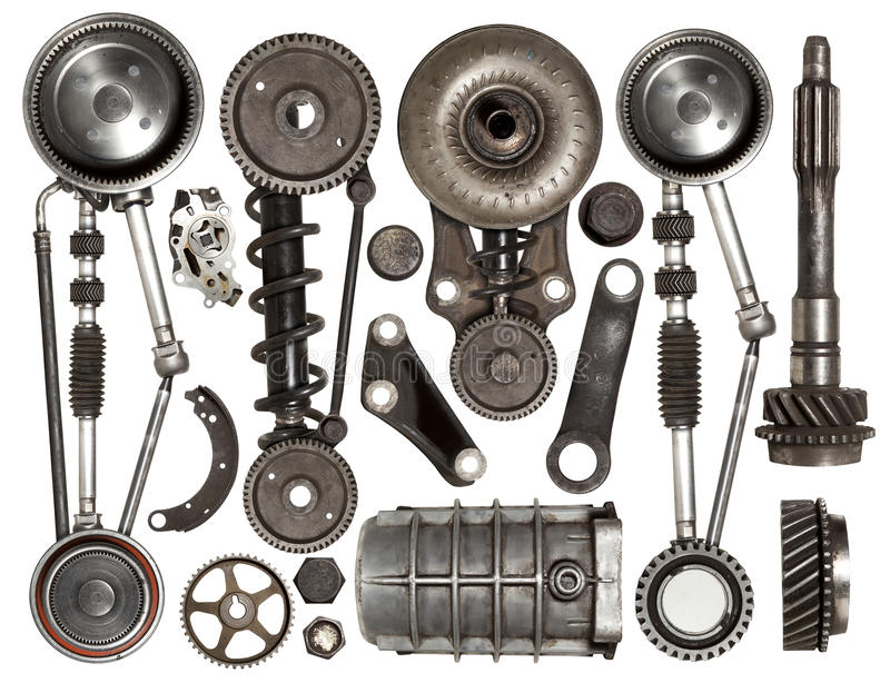 Old Auto Spare Parts Car On The White Background Stock Photo - Image ...