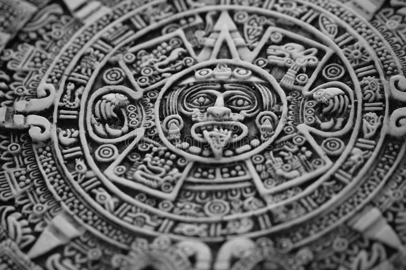 Old aztec calendar. As nice history background royalty free stock photos