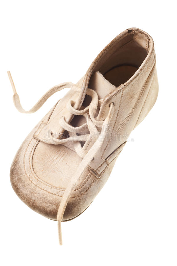Download Old baby shoe stock photo. Image of background, copyspace - 9912024