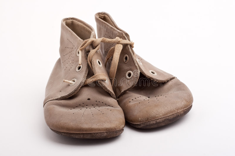 Old baby shoes stock image. Image of