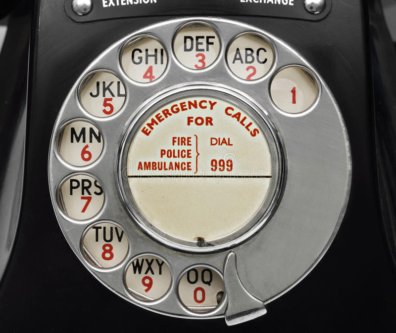 Old Bakelite Telephone Dial royalty free stock photo