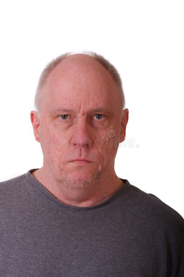 Download Old Balding Man Looking Stern Stock Photo - Image: 20190342