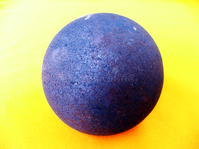 Old Ball Of Blue Iron. Royalty Free Stock Photos