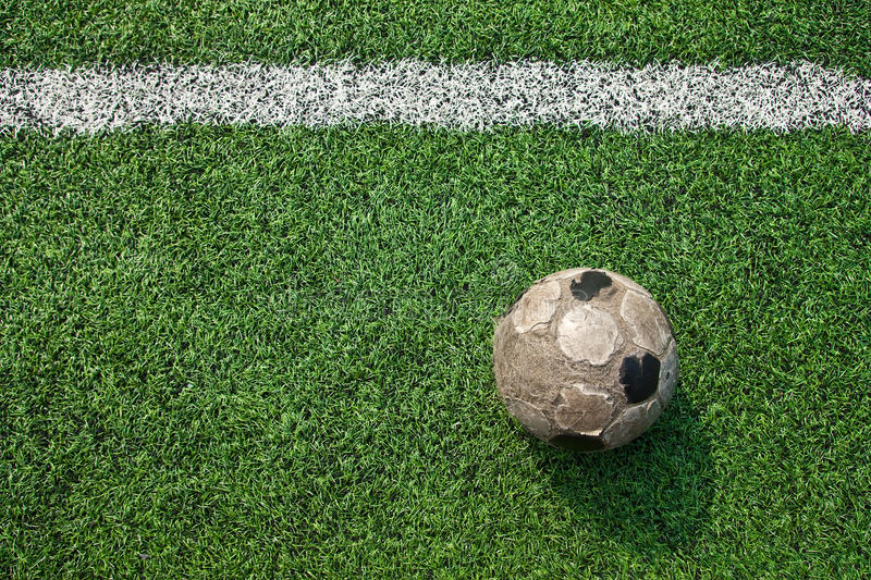 Download Old ball on new ground stock image. Image of line, sports - 12498959
