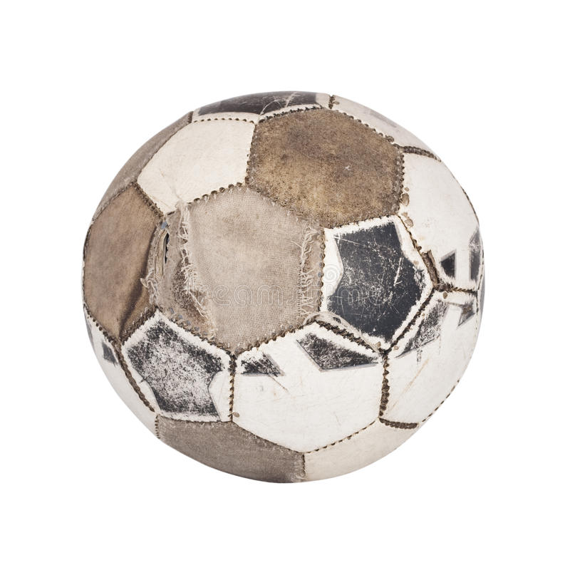 Old ball for soccer. stock images