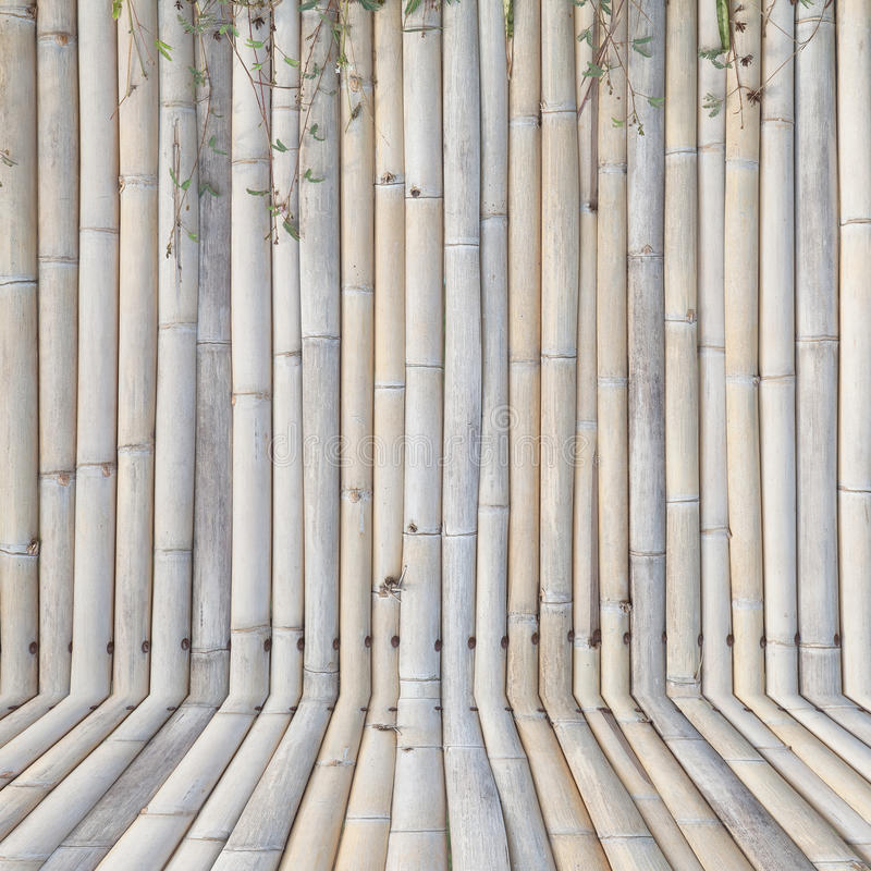 Old bamboo fence , background stock image