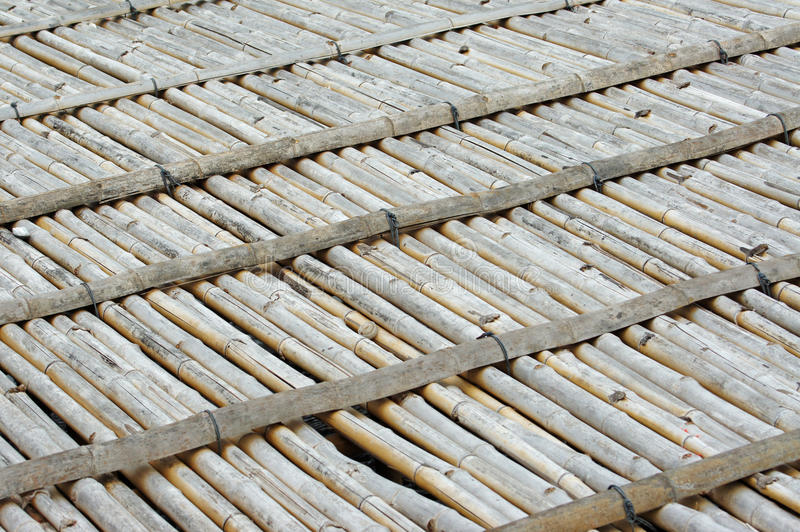Old bamboo litter royalty free stock photo