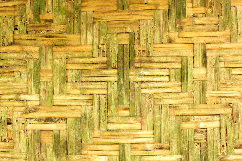 Old bamboo wall royalty free stock photography