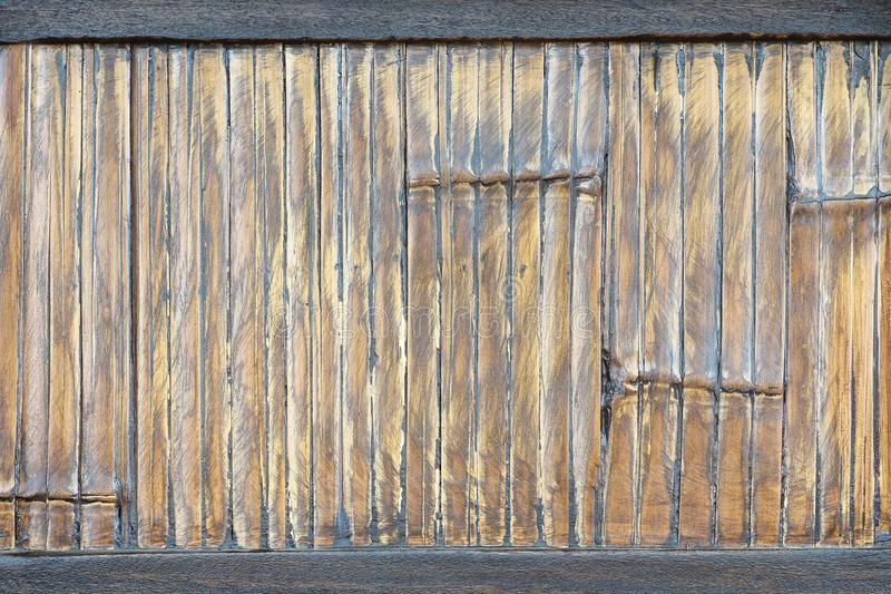 Old bamboo wall texture pattern background. Old bamboo wall texture pattern for background royalty free stock photography