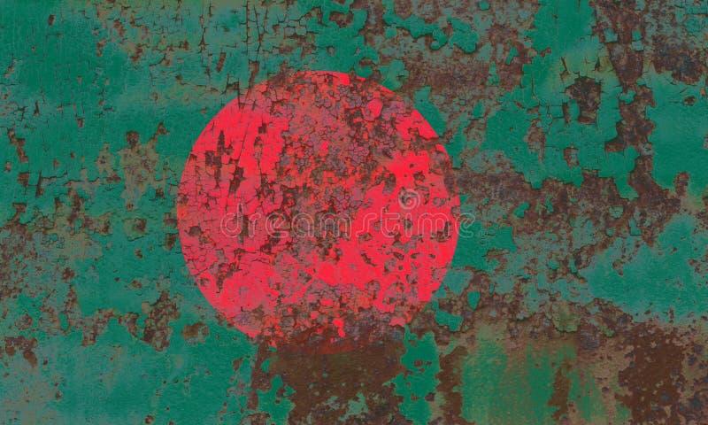 Old Bangladesh grunge background flag stock image