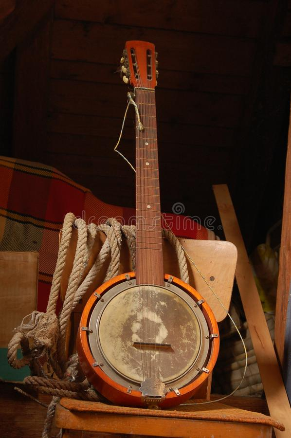 old banjo. obrazy stock