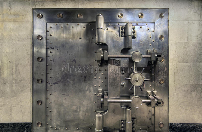 Old Bank Vault Wide Royalty Free Stock Photo