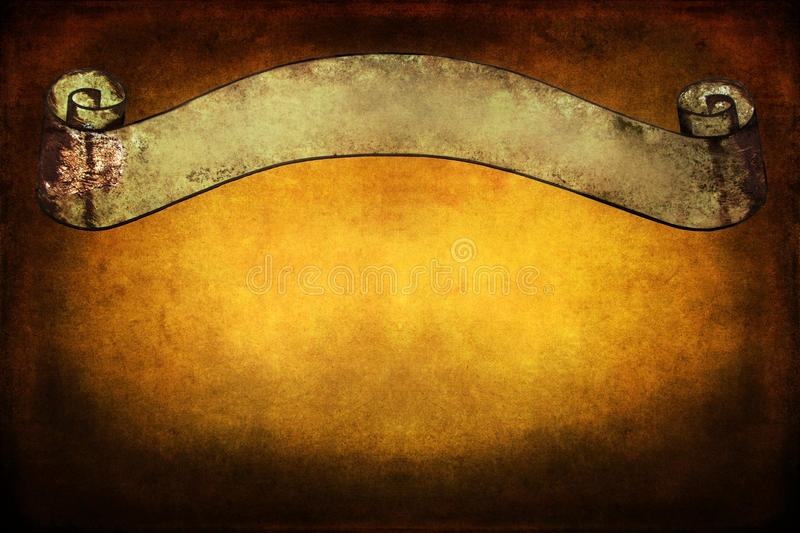 Old Banner On A Grunge Background Royalty Free Stock Photography