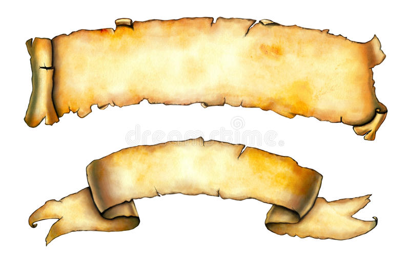 Old banners vector illustration