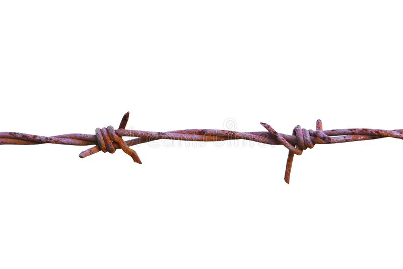 old barbed wire stock illustration