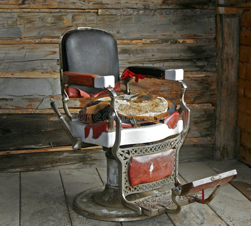 Old Barber Chair. stock images