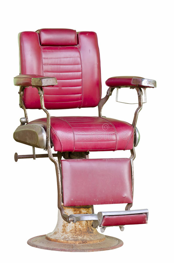 Old barber chair royalty free stock photos