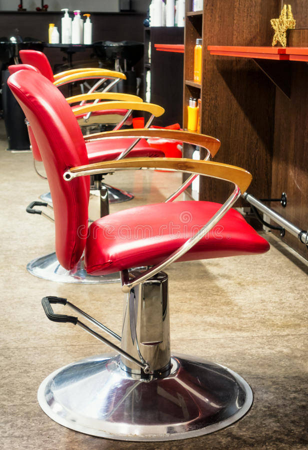 Old barber shop. Chairs at an old barber shop royalty free stock photography