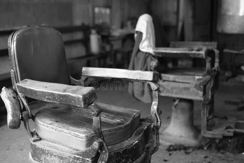 Old Barbershop chair stock image