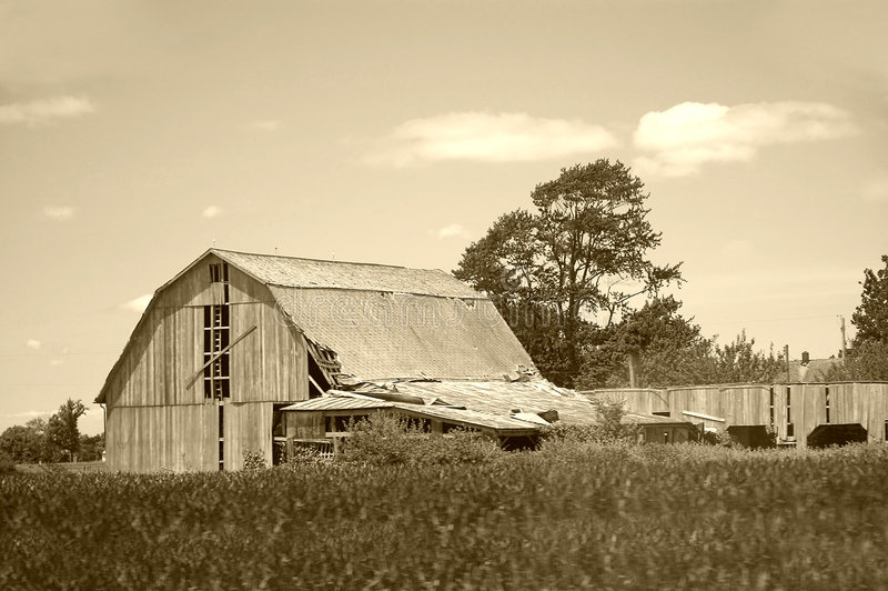 Download Old Barn stock photo. Image of country, worn, fence, weather - 165794