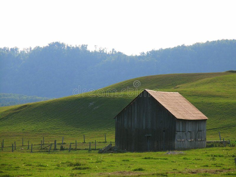 Old barn. Shot taken up north in St Jovite, Quebec stock photography