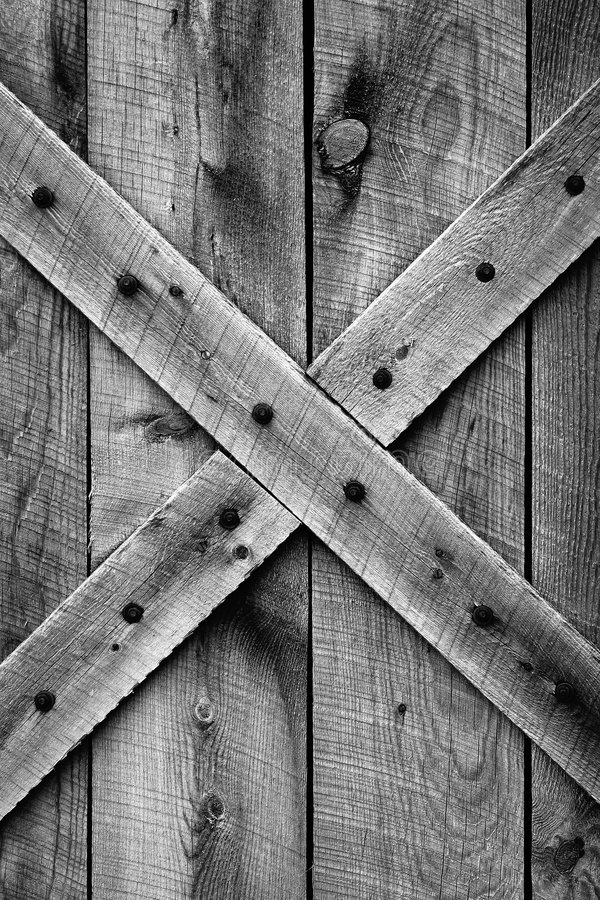 Free Old Barn Door (BW) Royalty Free Stock Images - 1177619