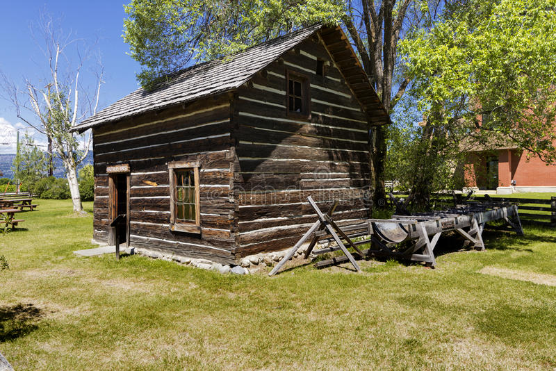 Old barn at Pandosy mission site. The first non-native settlement in the Okanagan Valley was a mission established on this site in 1859 by Father Pandosy. Take a royalty free stock photos