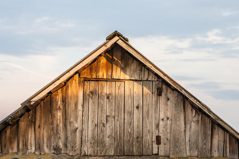 Download The old barn roof stock photo. Image of rest, clouds - 32159970