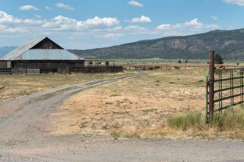 Old barn, Sierra Valley ranch stock photos