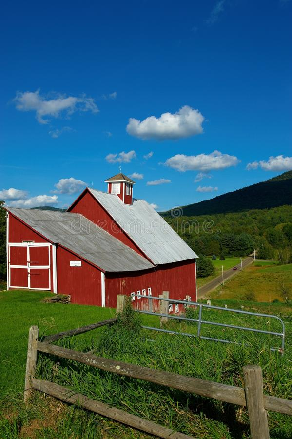 Old barn in Stowe Vermont stock photography
