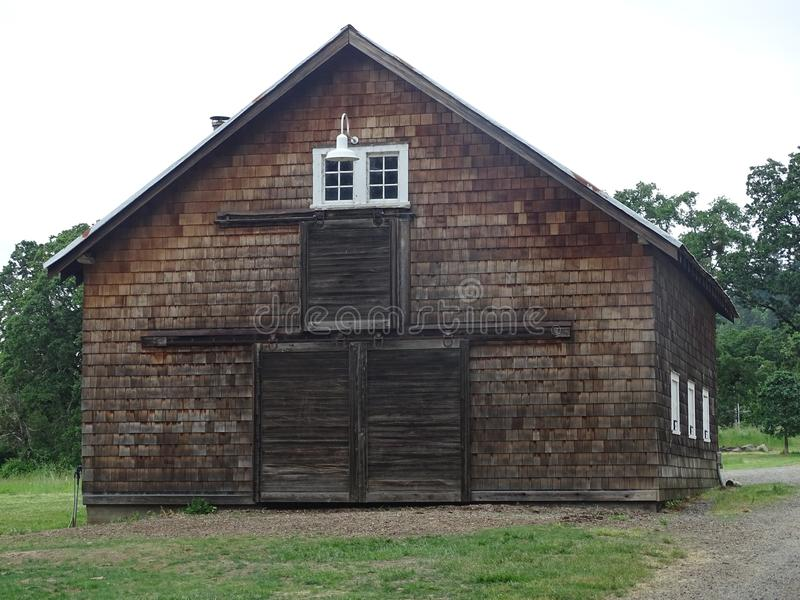 Old brown barn stock photography