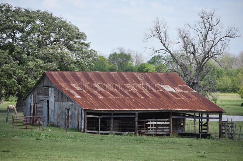 This old barn was found in South Texas. This was taken in South Texas, while driving around looking for nice images to capture royalty free stock photography