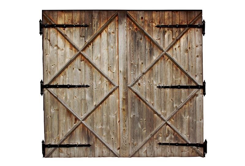 Download Old Barn Wooden Country Door Isolated On White Stock Image - Image: 45224387