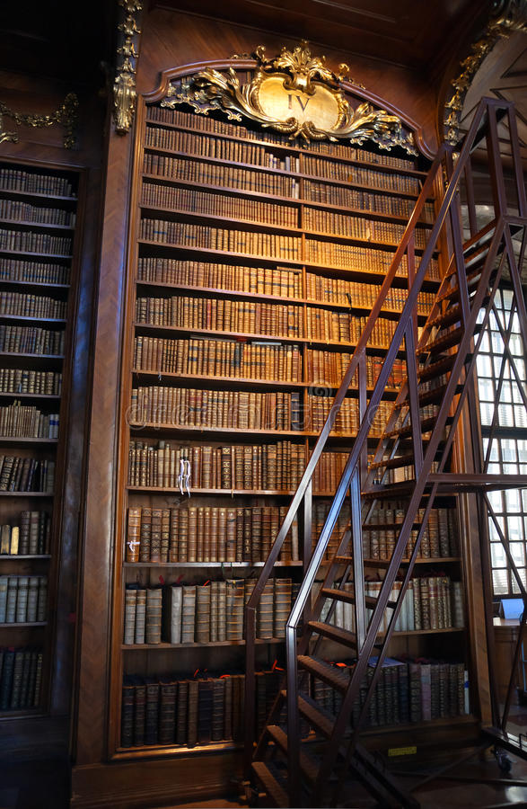 Old baroque Library royalty free stock photos