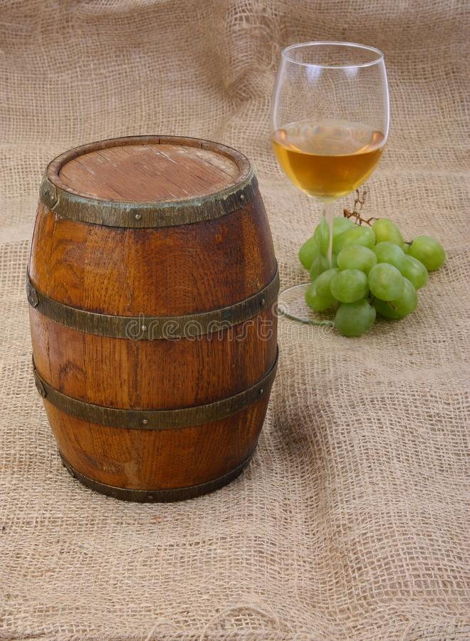 Old Barrei And Wine Royalty Free Stock Photography