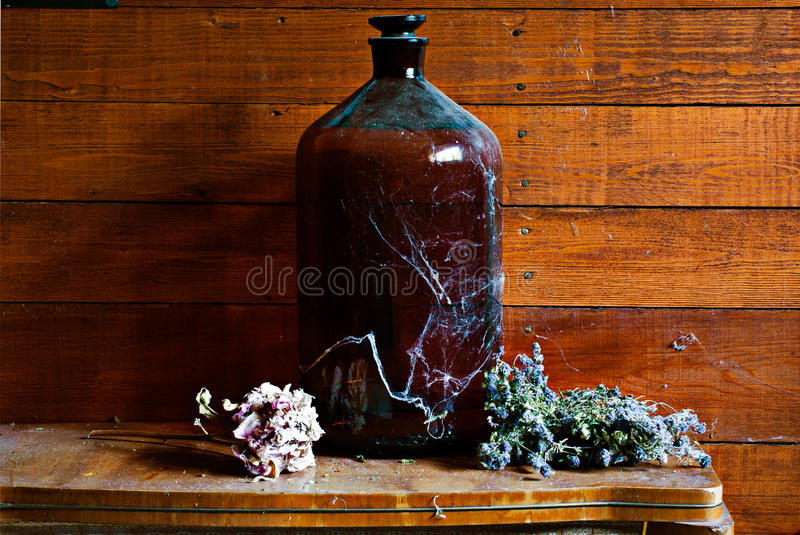 Download Old barrel stock image. Image of drink, bottle, earthenware - 15054125