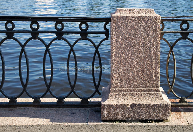 Download Old Barrier On The Neva Rive Stock Photo - Image: 21035256