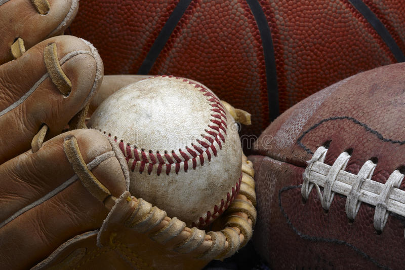 Download Old baseball stock image. Image of ball, sporting, leather - 14164931