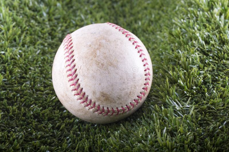 Baseball in closeup royalty free stock photo