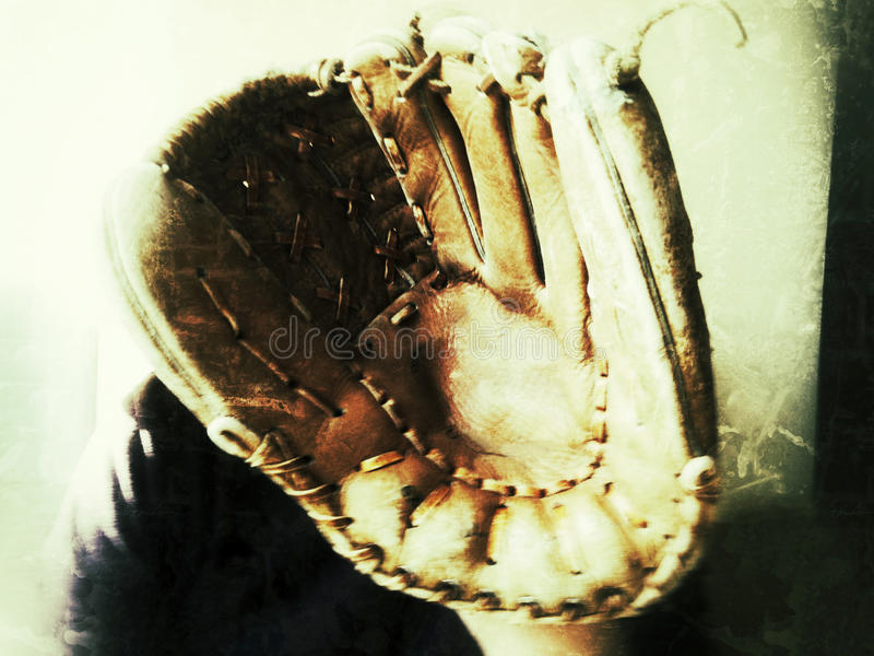 Download Old baseball glove stock image. Image of condition, vintage - 27845247