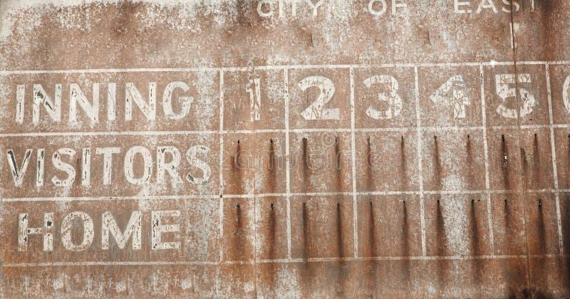 Old Baseball Scoreboard Background royalty free stock photography