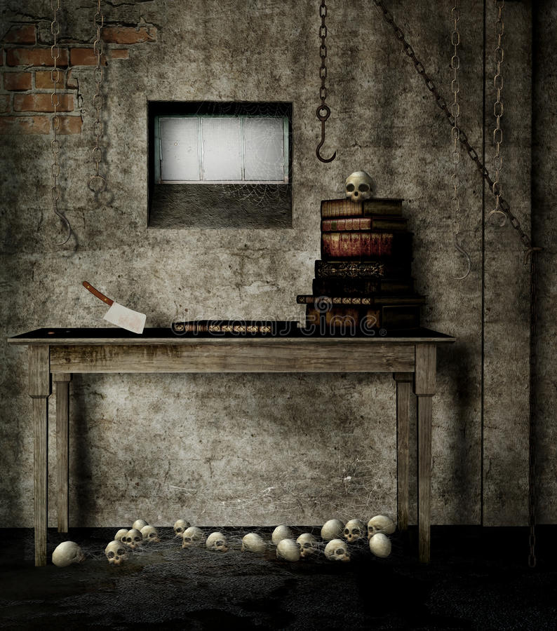 Download Old basement with books stock illustration. Image of wooden - 27103546