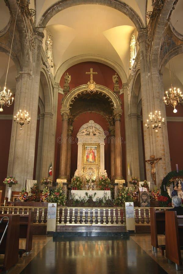 Old basilica altar royalty free stock image