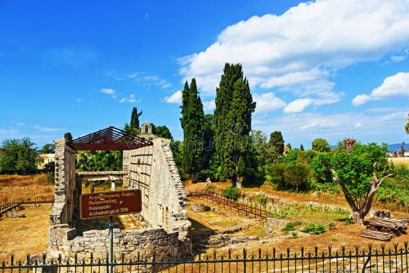 Corfu old church ruins Greece royalty free stock photos