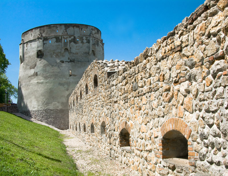 Old bastion in Brasov, Romania stock images