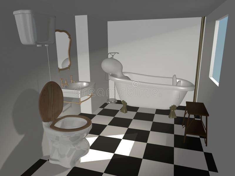Download Old bath stock illustration. Image of render, faucet - 14603689