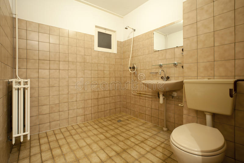 bathroom stock photo image  brown empty wall