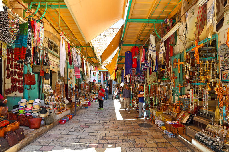 Old bazaar in Jerusalem, Israel. royalty free stock photography
