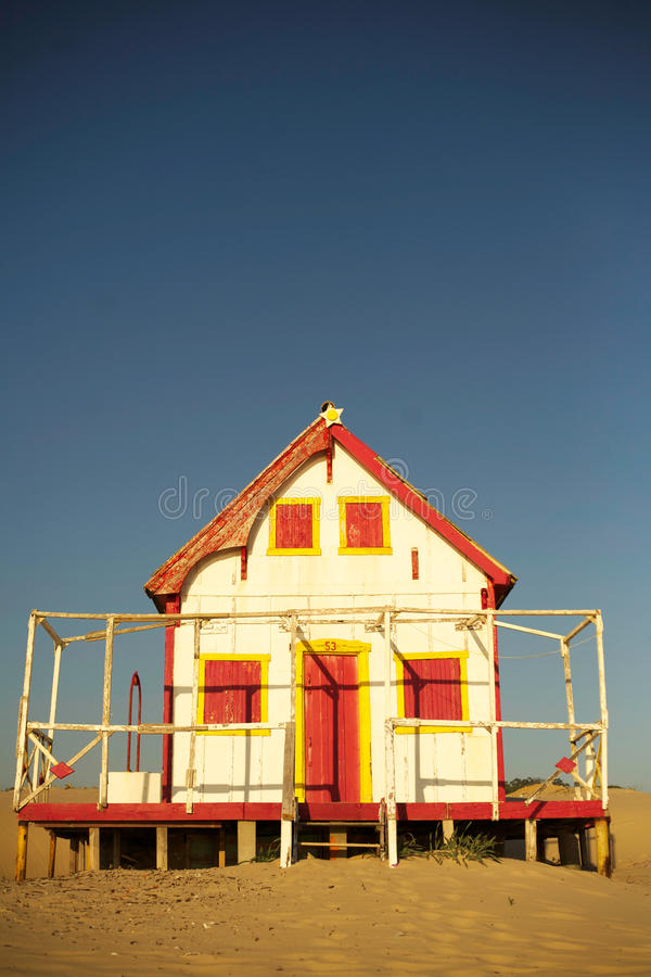 Old beach house royalty free stock photography